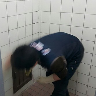 상가 화장실 청소
